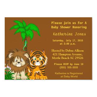 Invitation de douche de jungle de BabyAnimals