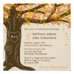Invitation de douche de mariage de automne de chên