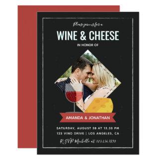 Invitation de douche/fiançailles de couples de vin