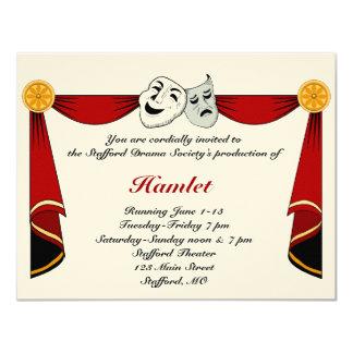 Invitation de drame et de théâtre