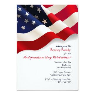 Invitation de drapeau américain
