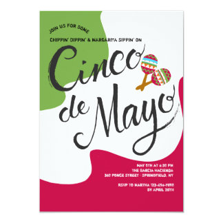 Invitation de drapeau de Cinco De Mayo