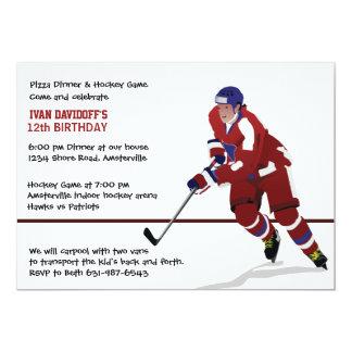 Invitation de fan de hockey sur glace