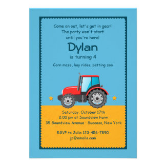 Invitation de ferme de tracteur
