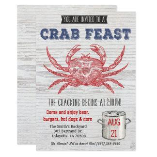 Invitation de festin de crabe