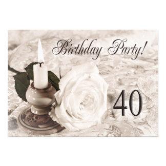 Invitation de fête d anniversaire 40 années