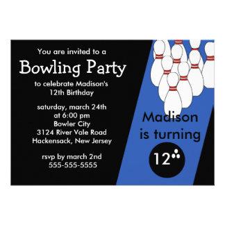 Invitation de fête d anniversaire de bowling