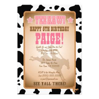 Invitation de fête d anniversaire de cow-girl