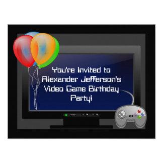 Invitation de fête d anniversaire de jeu de jeu vi