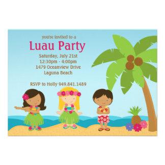 Invitation de fête d anniversaire de Luau