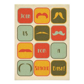 Invitation de fête d anniversaire de moustache de