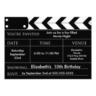 Invitation de fête d anniversaire de SOIRÉE CINÉMA