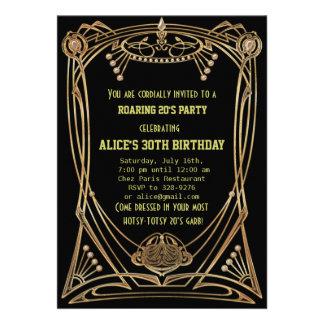 Invitation de fête d anniversaire de style de Gats