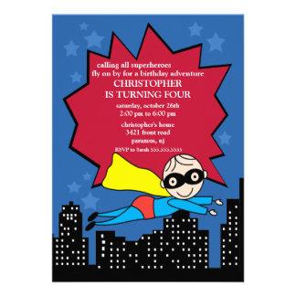 Invitation de fête d anniversaire de super héros