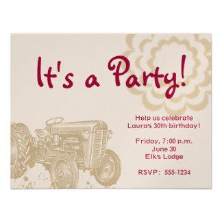 Invitation de fête d anniversaire de tracteur