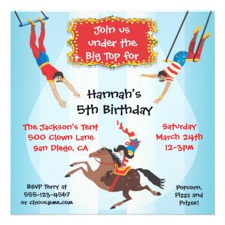 Invitation de fête d anniversaire de trapèze de vo