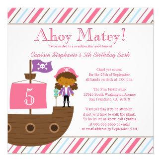 Invitation de fête d anniversaire du pirate de la