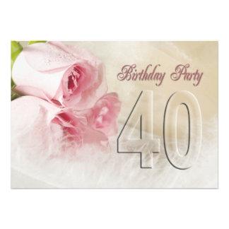 Invitation de fête d anniversaire pendant 40 année