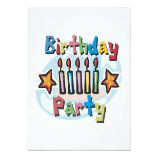Invitation de fête d'anniversaire carton d'invitation  12,7 cm x 17,78 cm