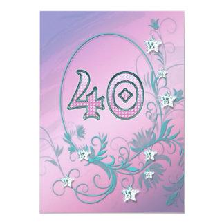 Invitation de fête d'anniversaire 40 années
