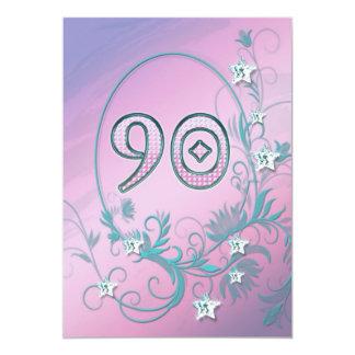 Invitation de fête d'anniversaire 90 années