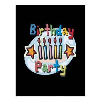 Invitation de fête d'anniversaire carte postale