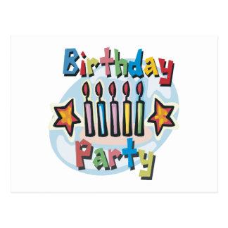 Invitation de fête d'anniversaire cartes postales