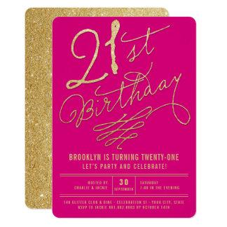 Carte Invitation de fête d'anniversaire d'adulte