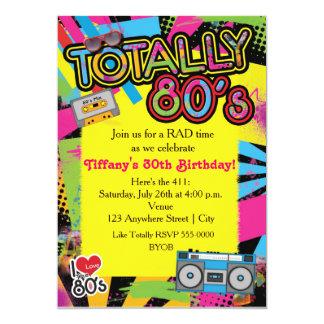 invitation de fête d'anniversaire d'années '80 des