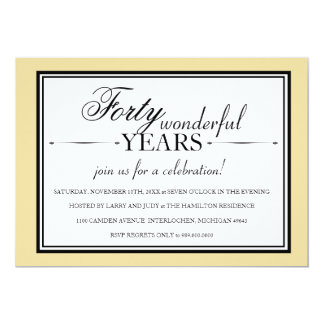 Invitation de fête d'anniversaire de 40 ans