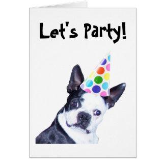 Invitation de fête d'anniversaire de Boston