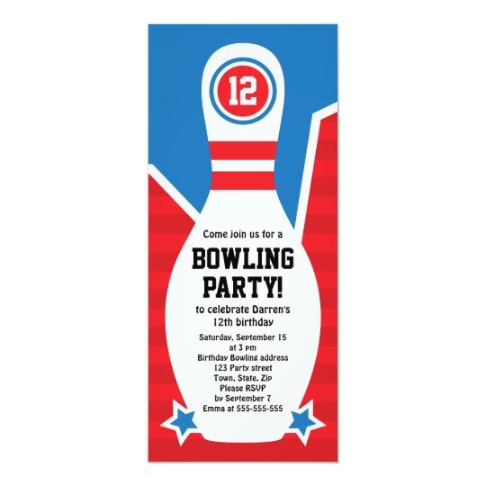Favorit Invitation de fête d'anniversaire de bowling avec | Zazzle.fr XM88