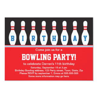 Invitation de fête d'anniversaire de bowling avec carton d'invitation  12,7 cm x 17,78 cm