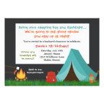 Invitation de fête d'anniversaire de camping