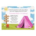 Invitation de fête d'anniversaire de camping pour