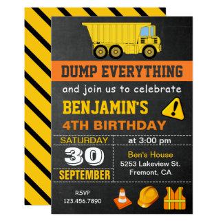 Invitation de fête d'anniversaire de construction
