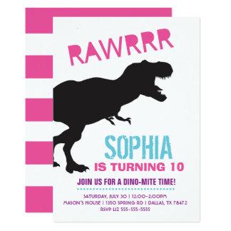 Invitation de fête d'anniversaire de dinosaure de