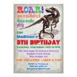 Invitation de fête d'anniversaire de dinosaure carton d'invitation  12,7 cm x 17,78 cm