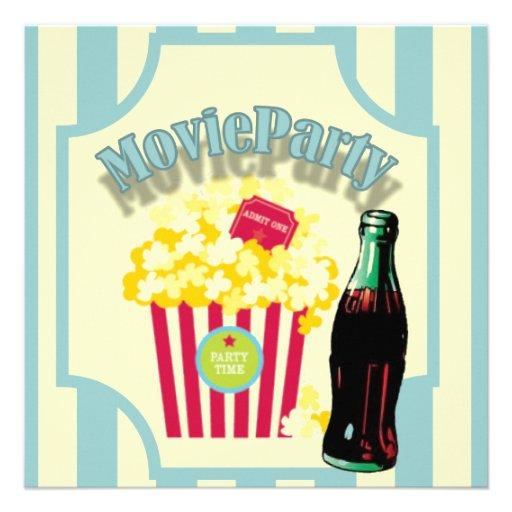 Invitation de fête d'anniversaire de film de garço