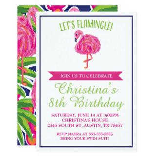 Invitation de fête d'anniversaire de flamant