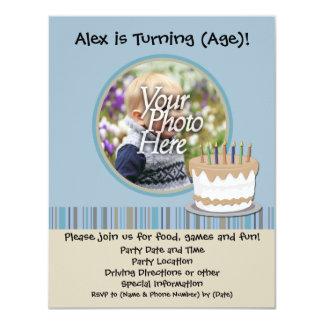 Invitation de fête d'anniversaire de garçon