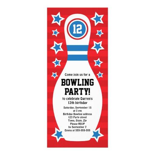 Invitation de fête d'anniversaire de goupille de b