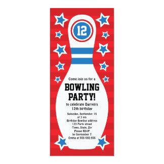 Invitation de fête d'anniversaire de goupille de carton d'invitation  10,16 cm x 23,49 cm
