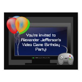 Invitation de fête d'anniversaire de jeu de jeu