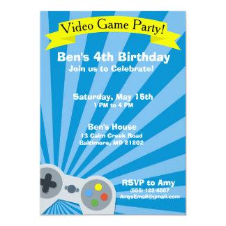 Invitation de fête d'anniversaire de jeu vidéo