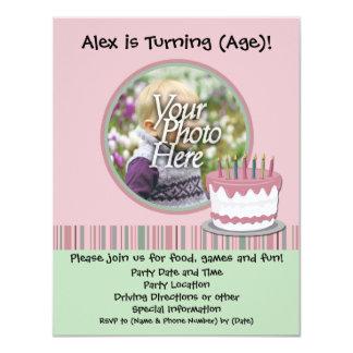 Invitation de fête d'anniversaire de la fille