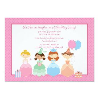 Invitation de fête d'anniversaire de la princesse carton d'invitation  12,7 cm x 17,78 cm