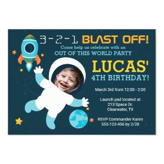 Invitation de fête d'anniversaire de l'espace de
