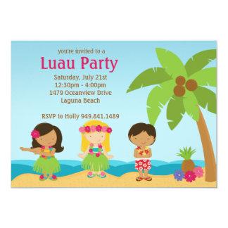 Invitation de fête d'anniversaire de Luau