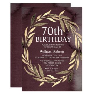 Invitation de fête d'anniversaire de mâle de